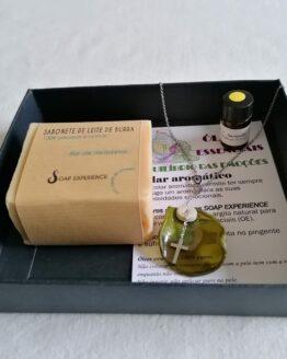 Sabonete + colar aromático
